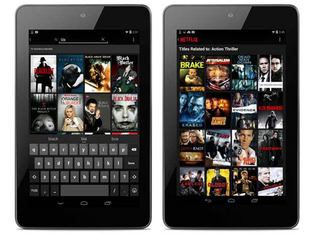 Visual search in Netflix for Android