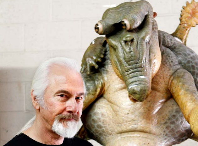 Rick Baker and 'Mikey' from Men in Black