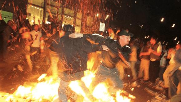 Broncos fans riot after winning Super Bowl 33