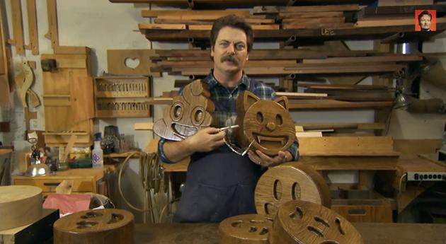 il emoji di legno Super di taglia è ultimo progetto Nick Offerman
