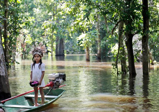 Il progetto di tracciato di collaborazione traccerà una carta dei fiumi del Amazon