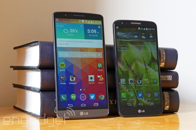 LG G3 and G2 side-by-side