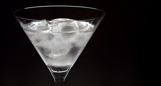 A clear alcoholic beverage