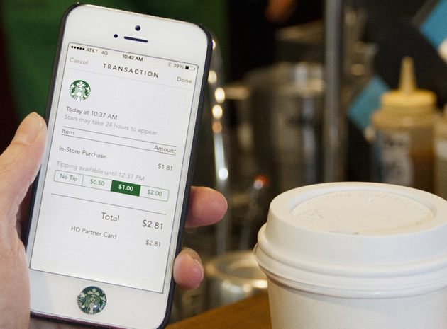 Starbucks' iPhone app