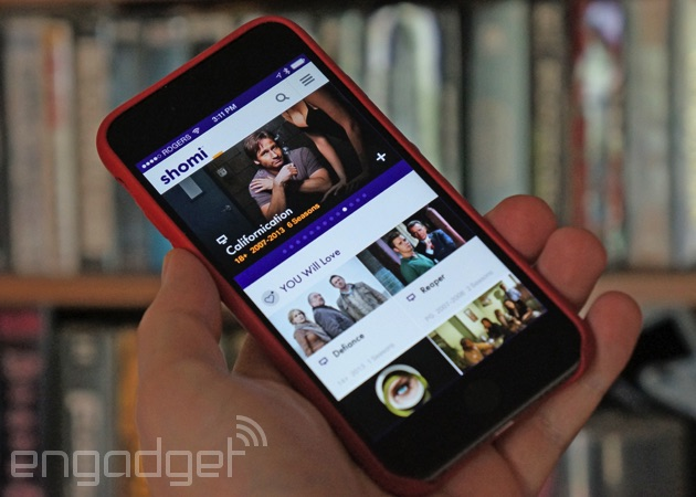 Shomi on an iPhone
