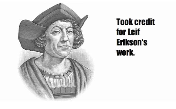 one-line summaries famous historical figures, christopher columbus
