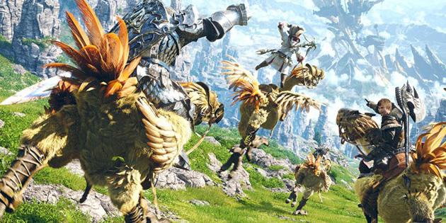 Riding Chocobos in Final Fantasy XIV