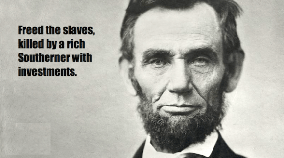 one-line summaries famous historical figures, abraham lincoln