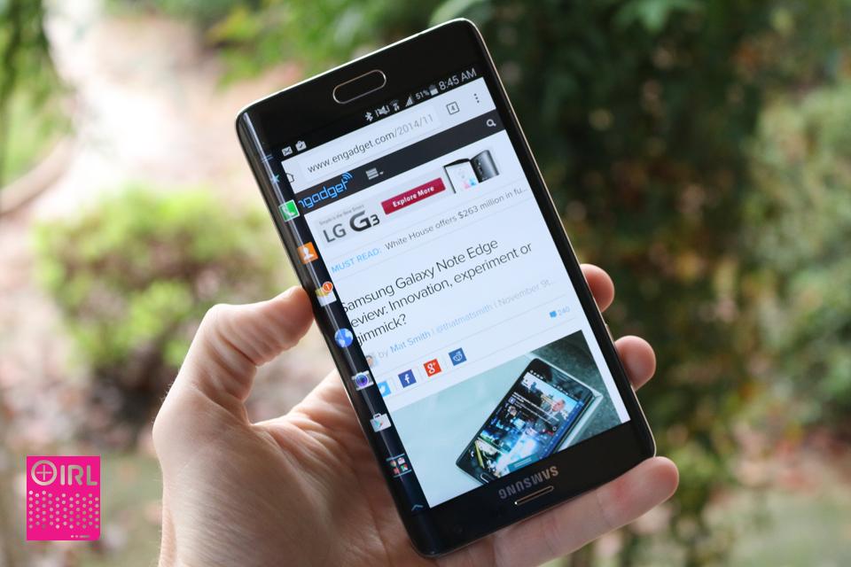 Il IRL: Il bordo della nota della galassia di Samsung non è grande per i mancini
