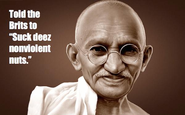 one-line summaries famous historical figures, mahatma gandhi