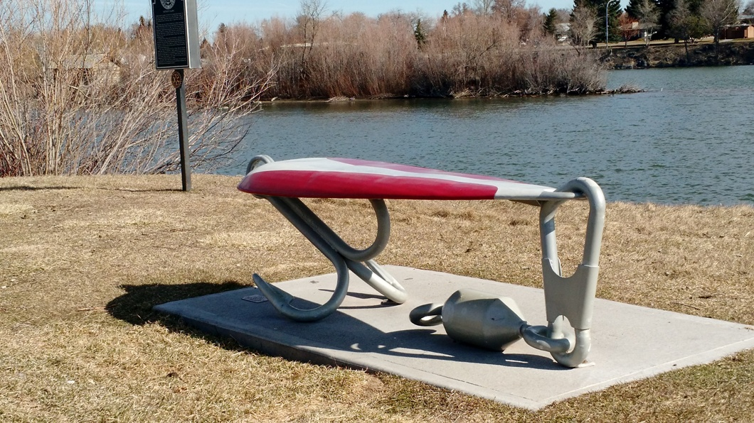 A-Lure Bench on the Snake RIver Greenbelt