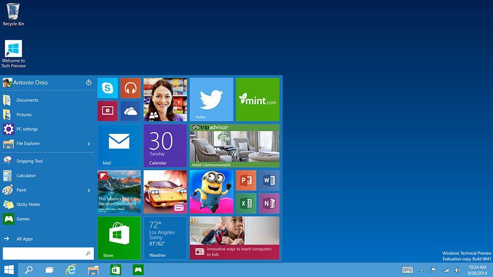 Windows 10 estará disponible el 29 de julio