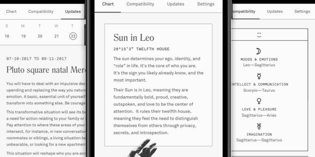 Cette nouvelle application d'astrologie personnalisée est