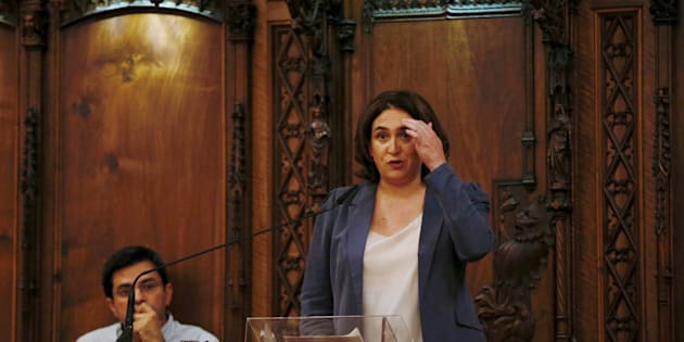 La regidora de Barcelona, Ada Colau, y el primer teniente de alcalde, Gerardo Pisarello, el pasado jueves.