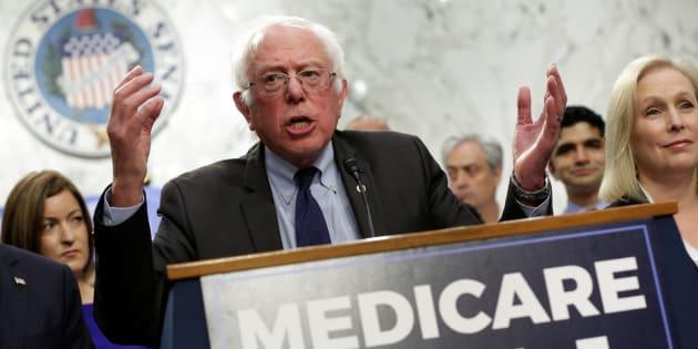 El senador demócrata Bernie Sanders éste miércoles.