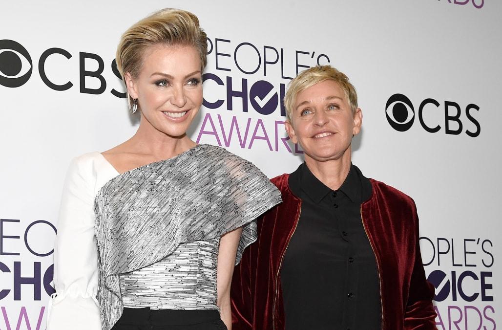 Ellen DeGeneres And Portia De Rossi Evacuate California