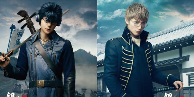 窪田正孝さんが演じる河上万斉(左)と、三浦春馬さんが演じる伊東鴨太郎