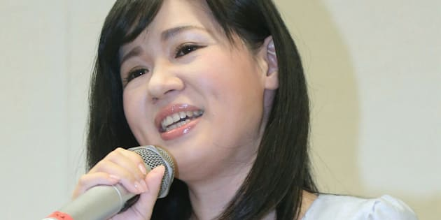 衆議院選挙への不出馬を表明した上西小百合衆院議員=25日、東京・永田町の衆院第2議員会館   撮影日:2017年09月25日