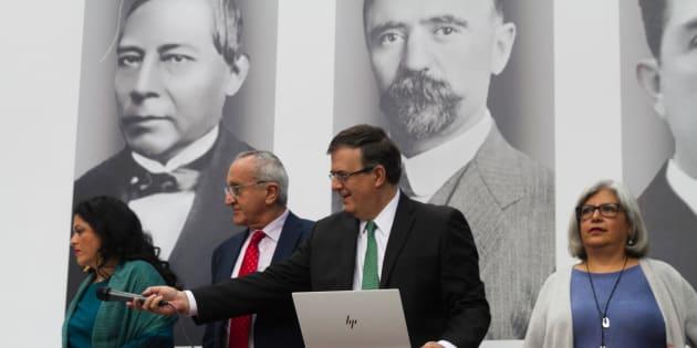 Conferencia de prensa del gobierno electo sobre el nuevo Acuerdo Estados Unidos-México-Canadá (USMCA), en la casa de transición, el lunes 10 de octubre de 2018.