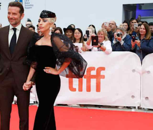 Bradley Cooper Poses With Lady Gaga At The World Premiere Of A Star Is Born