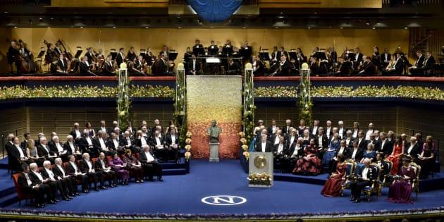 ノーベル賞授賞式の写真(2015年撮影)