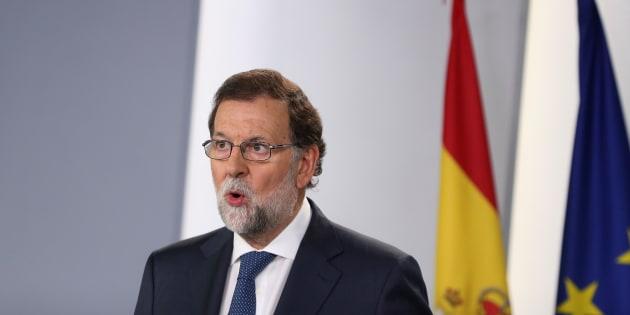 Mariano Rajoy en el Palacio de la Moncloa el 7 de septiembre de 2017.