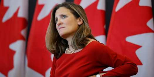Canada's Foreign Minister Chrystia Freeland takes part in an event at the University of Ottawa in Ottawa, Aug. 14, 2017. Freeland was in Washington, D.C., on Wednesday for the launch of NAFTA renegotiations.