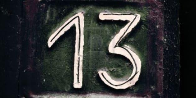 Número 13: azar para muitos e até doença para quem tem medo.
