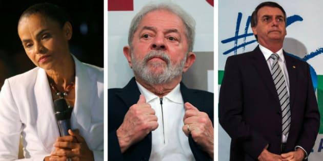 Marina empata tecnicamente com Bolsonaro se candidatura de Lula é barrada.