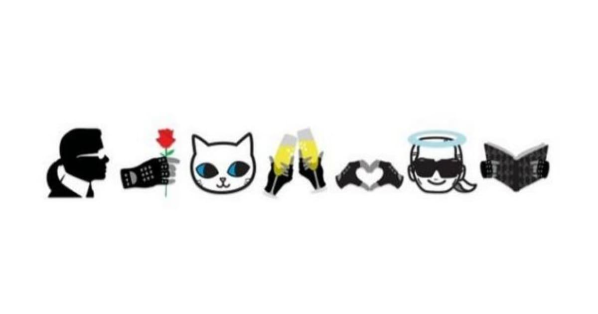 Karl Lagerfeld habille les émoticônes en EmotiKarl avec
