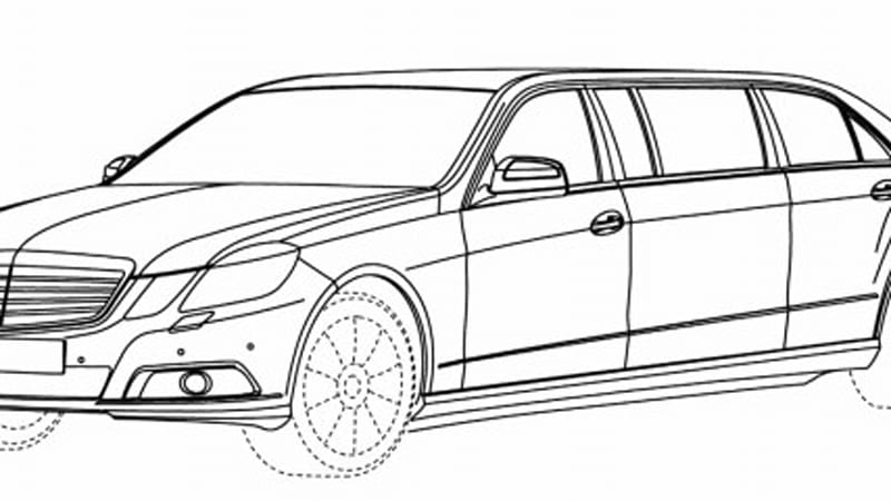 Mercedes-Benz E-Class Pullman drawings leak from European