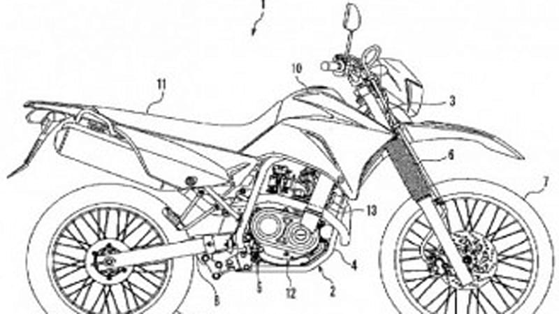 Yamaha files patent for Enduro bike with CVT transmission