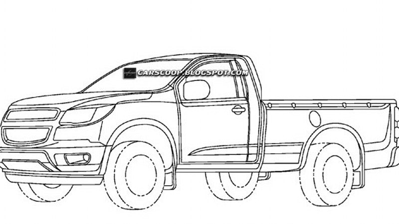 Patent drawings reveal new Chevrolet small pickup... but