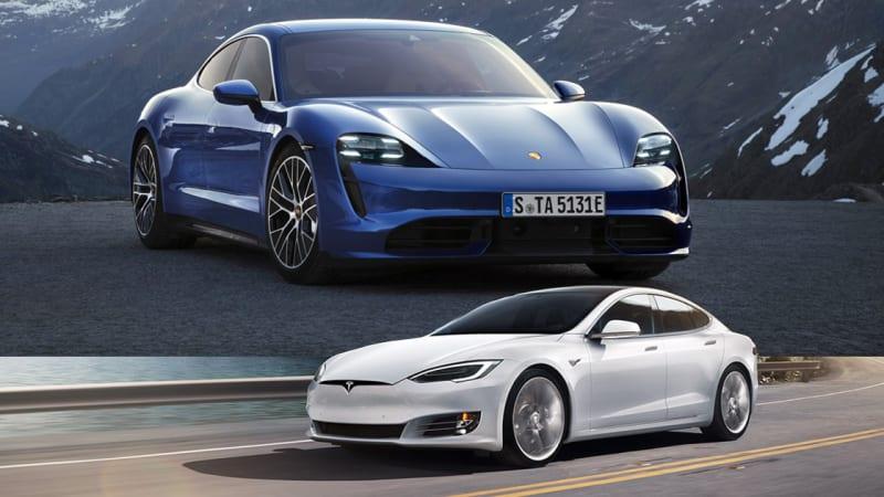 Porsche Taycan Versus Tesla Model S Comparing These