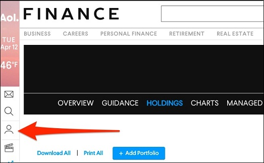 Aol Finance Stock Quotes Enchanting Aol Stock Quotes My Portfolio Picture