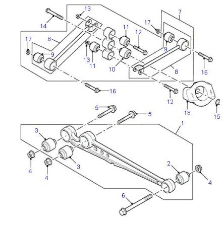 Land Rover Discovery Watts Linkage