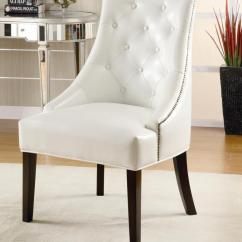 White Leather Chairs For Sale Ergonomic Chair Under 300 Tufted Accent On Armless
