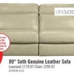 Genuine Leather Sofa And Loveseat Two Cushion Sleeper The Brick Cindy Crawford Home Seth 719 00 Up To 25 Off