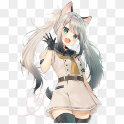 Wolf Fox Cute Anime Girl HD Png Download 566x800 PNG DLF PT