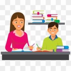 Teacher Helping Student Clipart Png Transparent Png 1200x855 PNG DLF PT