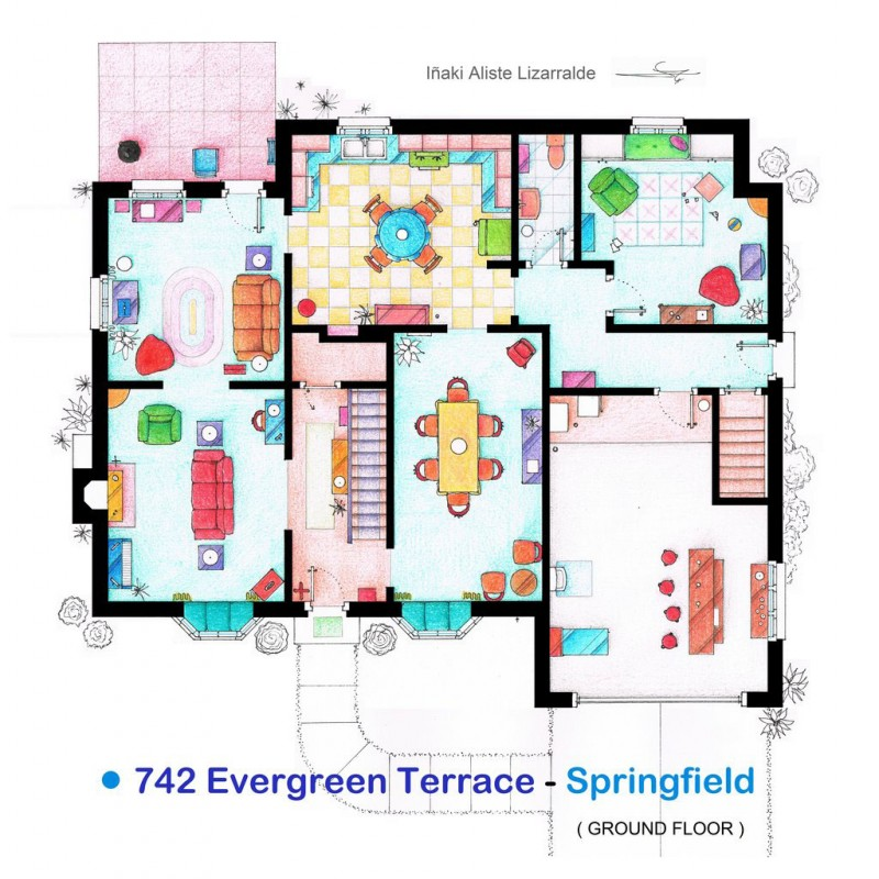 Simpson's house floor plan