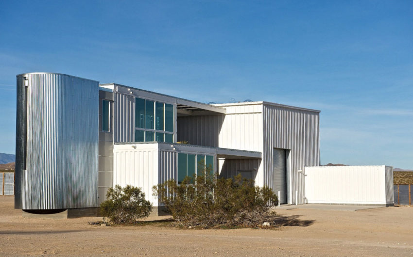 First Shipping Container House in Mojave Desert by Ecotech Design