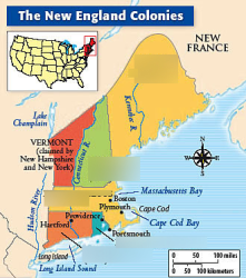 Map Of New England Colonies World Map Atlas