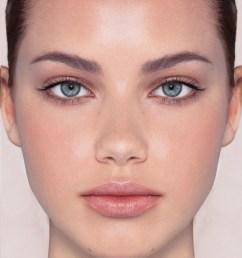 human face diagram [ 864 x 960 Pixel ]