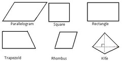 Math Test 7 Geometry Shapes/Polygons Illustrated