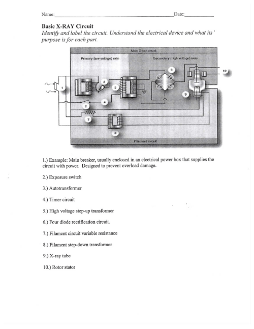 small resolution of xt physics basic x ray circuit w answers