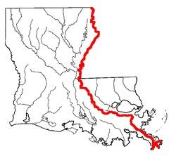LA History Chap. 1 Louisiana Rivers and Lakes Map