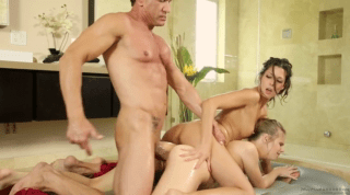 Sexy Massage Females Fuck One Handsome Cock