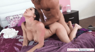 Busty Mom Sucking Cock And Playing With Balls