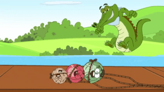 Pakdam Pakdai Episode Crocodile River Surprise